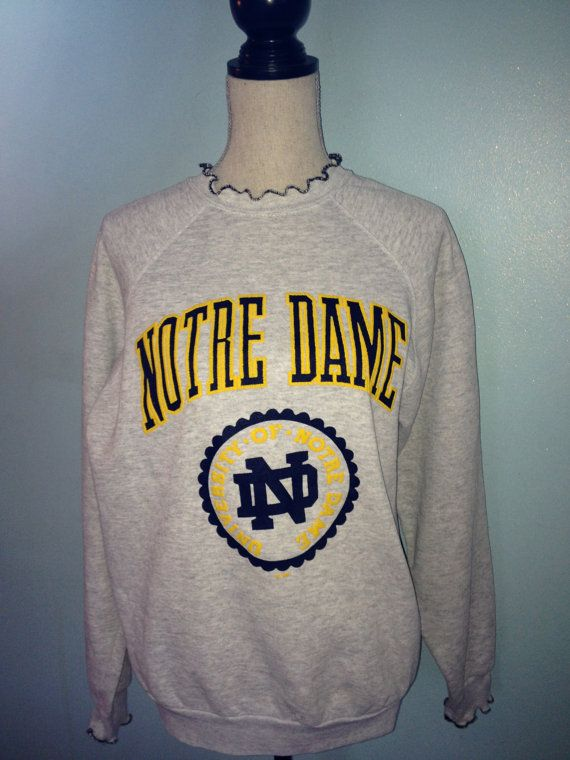 d46cc498c3894 Vintage Notre Dame Fighting Irish Sweatshirt by 21Vintage on Etsy
