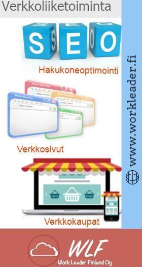 Work Leader Finland Oy (WLF) tarjoaa verkossa ja digitaalisen markkinoinnin palvelu Suomessa alle budjetin. Avulla Hakukoneoptimointi (SEO), Google-mainonnan ja online-mainonnan tekniikoita lisäämme näkyvyyttä verkkosivuilla ja lisätä raskasta liikennettä verkkosivuilla lisätietoja kirjautua. osoitteessa www.workleader.fi