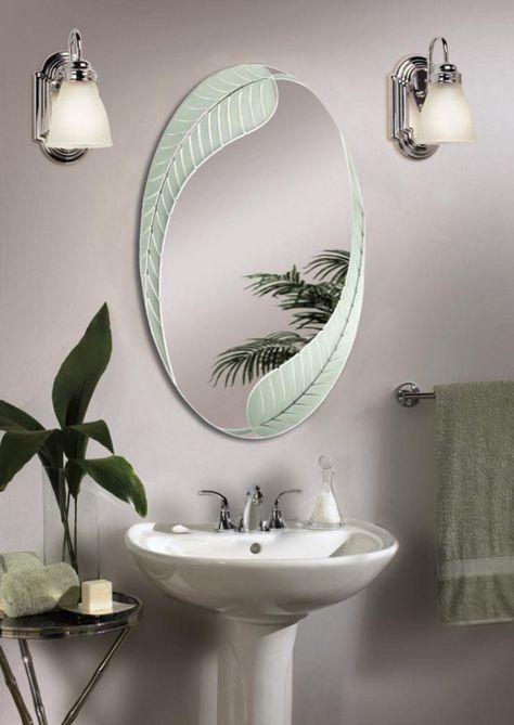 Gentil Unique Oval Bathroom Mirrors