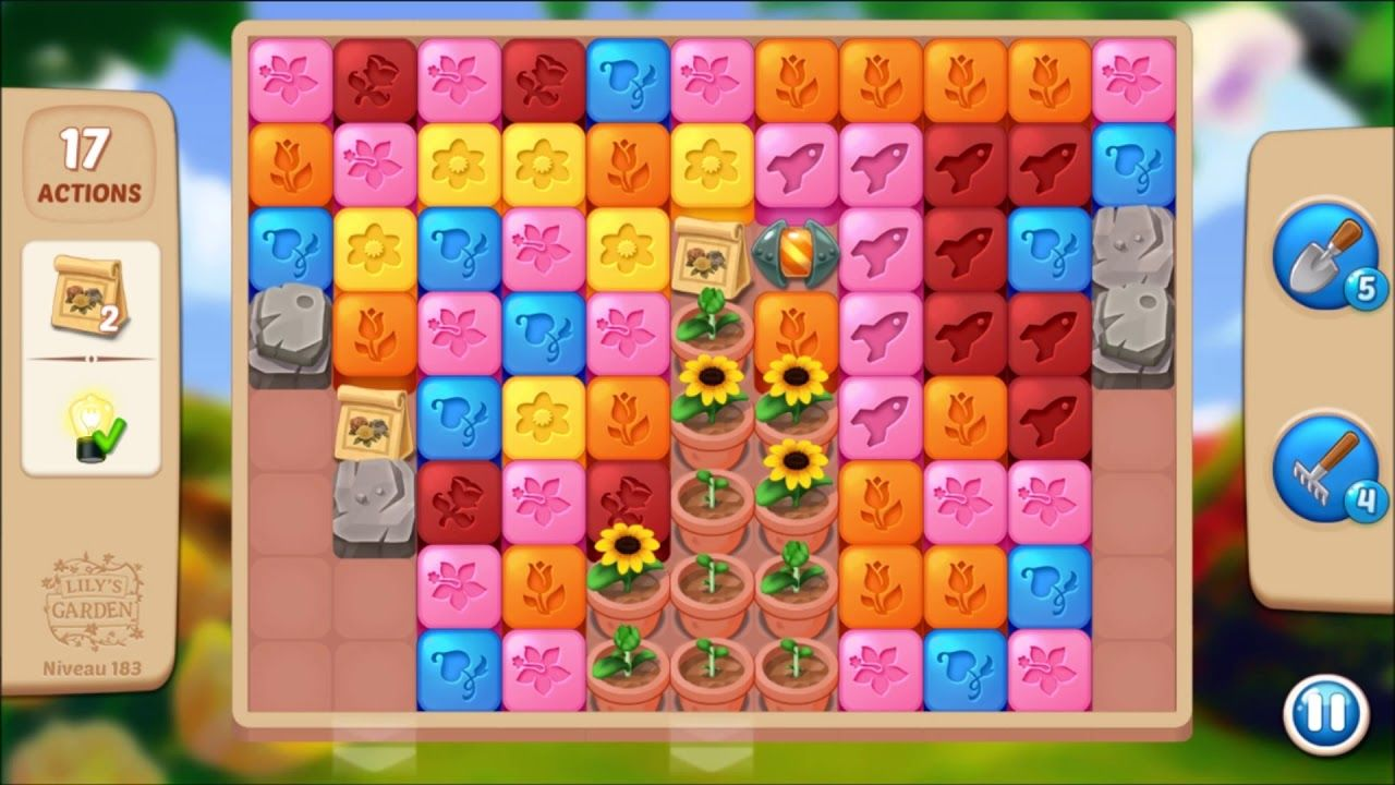 Lily S Garden Level 183 No Boosters Lily Garden Garden Levels Lily