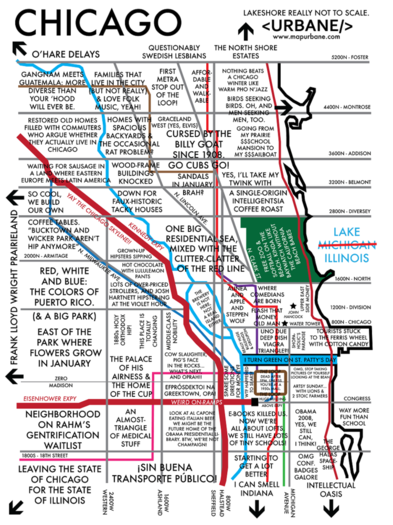 Chicago Stereotype Map - Oh, Redeye, you've done it again ... on detroit love, detroit community, detroit culture, detroit beauty, detroit geography, detroit men, detroit violence, detroit symbols, detroit crime, detroit poverty, detroit food,