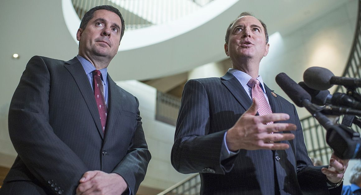 The top Republican on the intelligence committee was on Trump's transition team. The lead Democrat is a fierce Trump critic.
