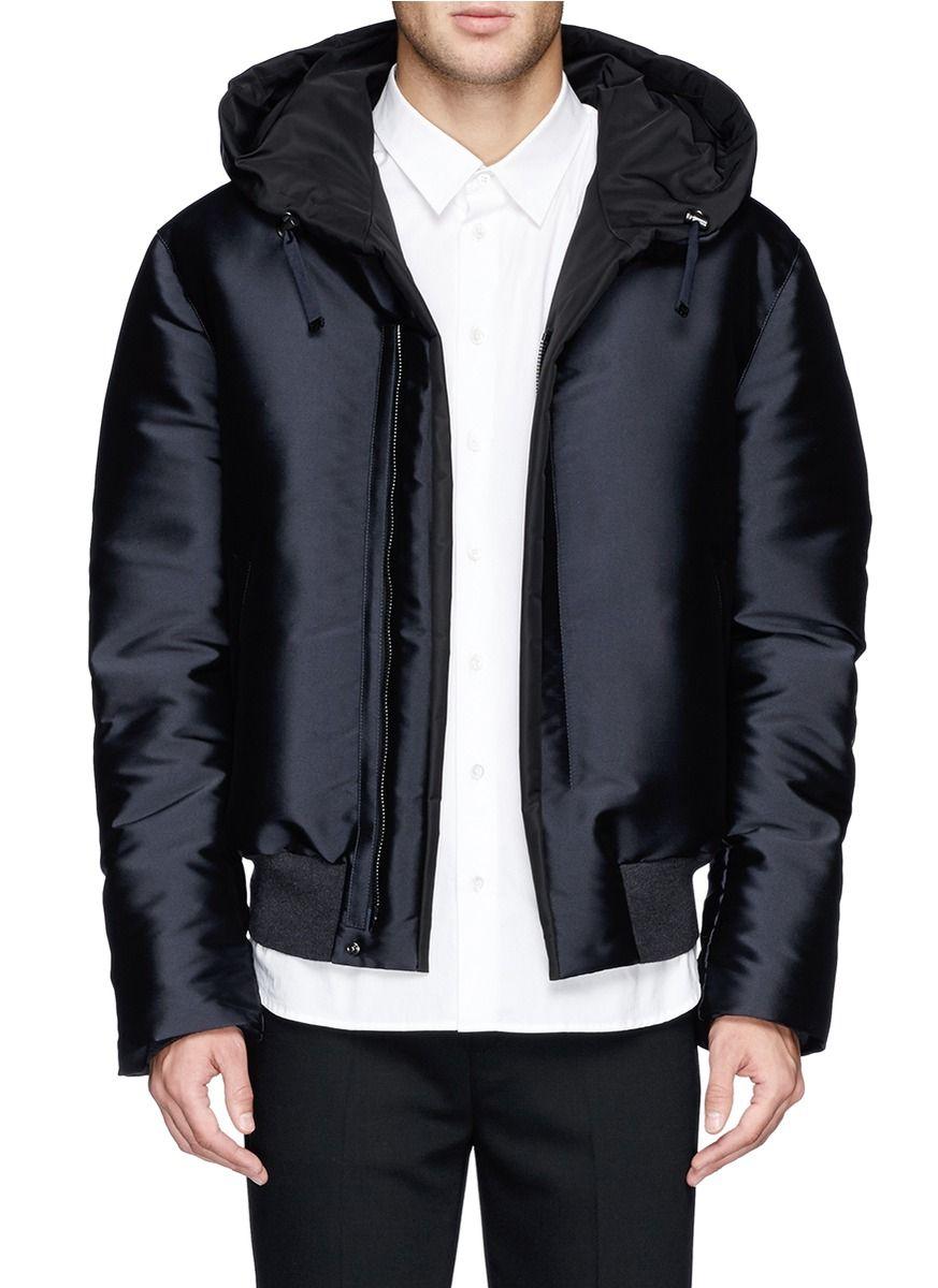 Lanvin Double Faced Satin Down Jacket Blue Casual Jackets Jackets Menswear Lane Crawford Shop Designer Jackets Men Fashion Casual Jacket Down Jacket [ 1200 x 873 Pixel ]