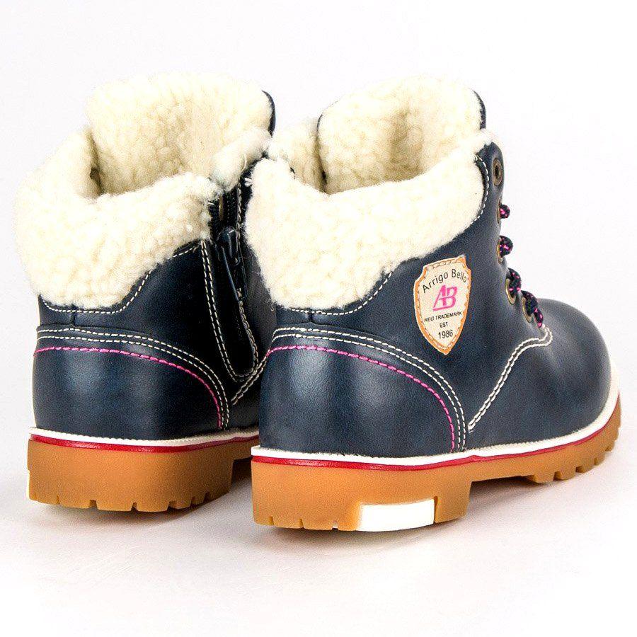 Kozaki Dla Dzieci Arrigobello Arrigo Bello Niebieskie Zimowe Buty Z Kozusznikiem Boots Shoes Winter Boot