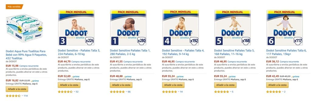 15 De Descuento En Dodot Sensitive Solo Hoy En Amazon Descuento
