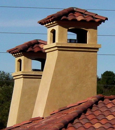 Chimney Caps Mediterranean Exterior In 2019 Spanish Style
