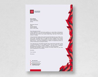 Check Out New Work On My Behance Portfolio Free Letterhead