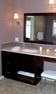 Tile Sidesplash Backsplash House Ideas Pinterest Custom Vanity Traditional Bathroom Backsplash
