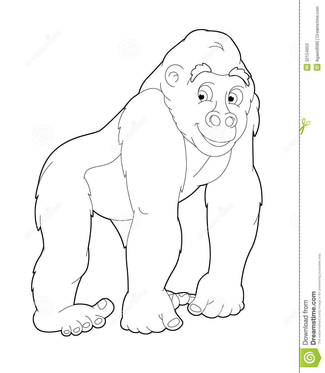 Safari Coloring Pages: Viewing Gallery For Ape Coloring Pages ...