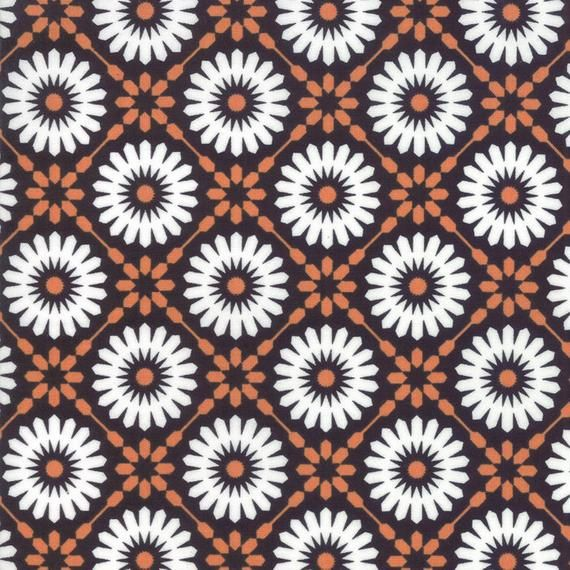 Midnight Magic Midnight Pumpkin Mums Sold By the yardModa # 24080 24 Moda Fall Halloween Fabric collection100% Cotton Fall Halloween Fabric collection Designed by April Rosenthal Prairie GrassSold by the YardFun Orange and Black Fall Halloween collection of floralsOther pre-cuts and yardage available from this collection listedThanks for looking