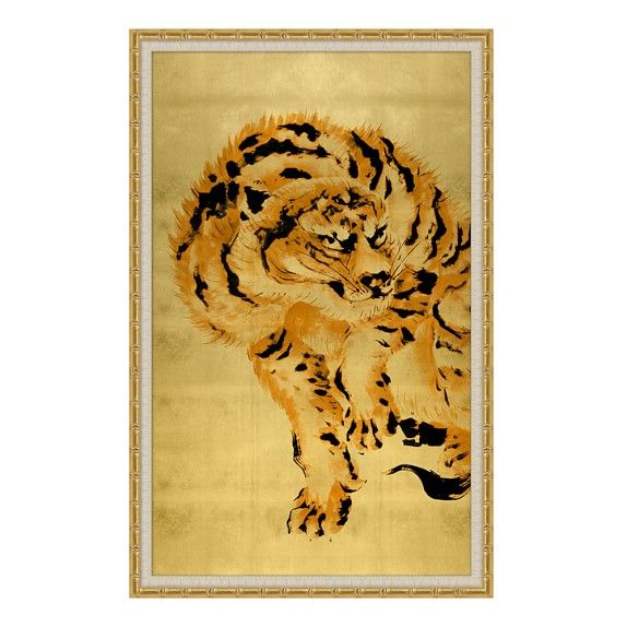 Gold Leaf Tibetan Tiger | wall art | Pinterest | Walls