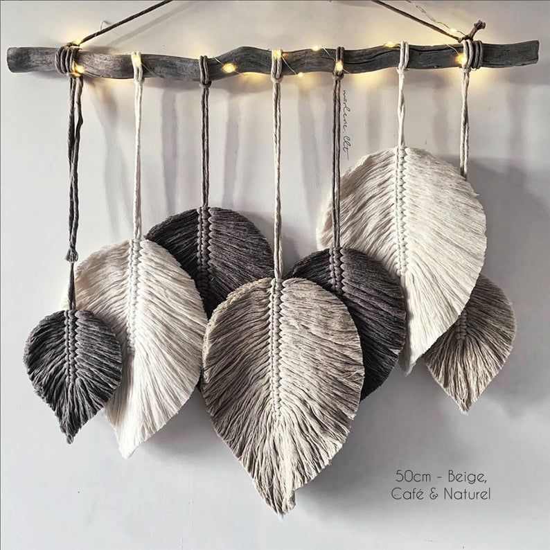 Suspension en plumes de macramé   – decor * Boho