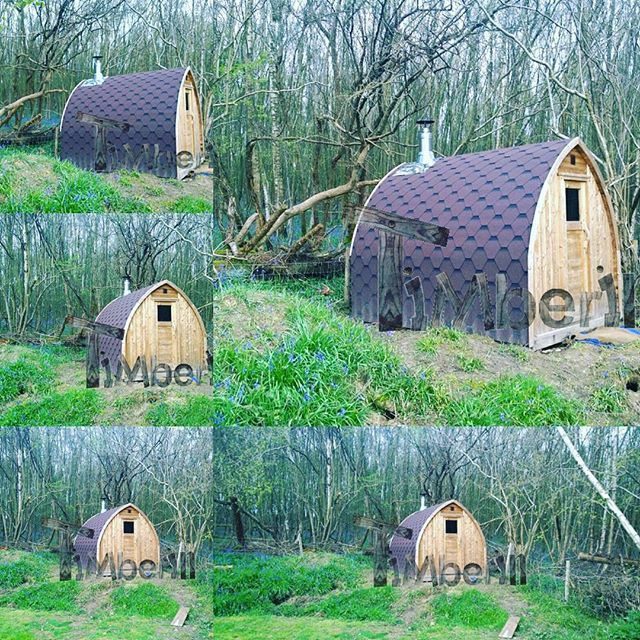 Wooden Garden Sauna Igloo Type. Was Delivered As DIY, But It Now Looks Like