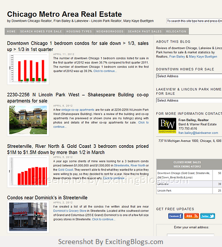Chicago Metro Area Real Estate by Downtown Chicago Realtor Fran Bailey - Click to visit blog:  http://1.33x.us/HzokBM