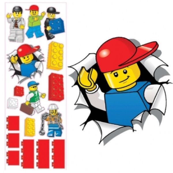 Lego maxi wall stickers large jaxon pinterest einschulung - Lego wandtattoo ...