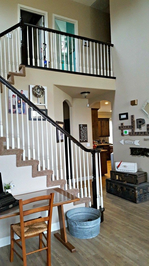 Best General Finishes Gel Stain Banister Staircase Tutorial 640 x 480