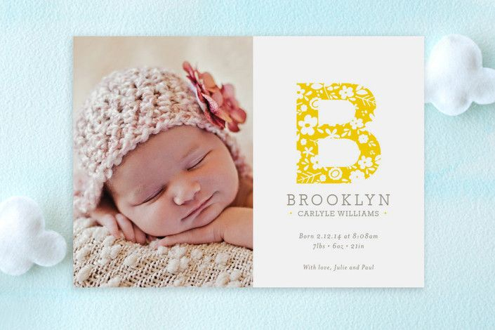 wonderful life birth announcement postcards baby birth announcement