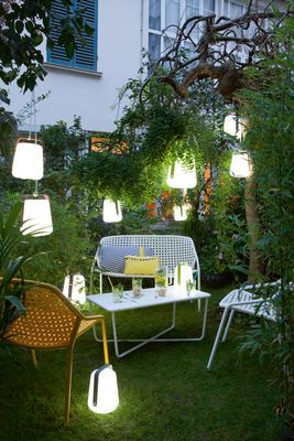 Balad Small LED Wireless lamp - LED by Fermob | Outdoor lights ...