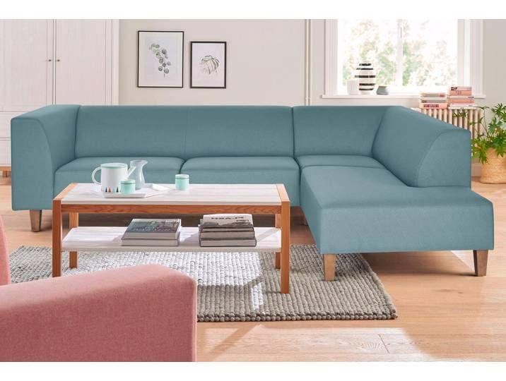 Andas Ecksofa Diva Im Zeitlosen Design Grun Webstoff Couch Home Interior