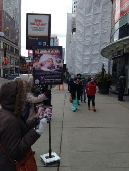 Photo of Messiah Foundation Propagates in Downtown Toronto www.goharshahi.us… #MessiahF…