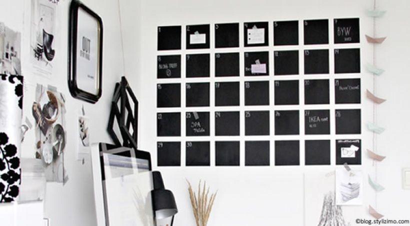 Fabriquer Un Calendrier Mural Diy Organisation