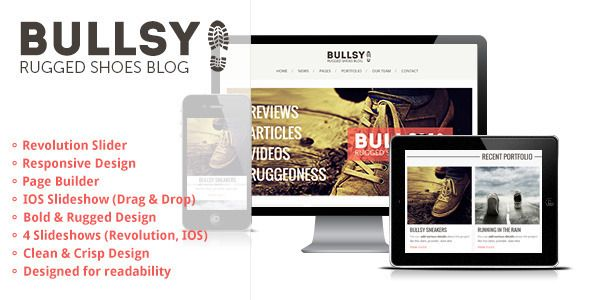 Bullsy - A Rugged & Bold Responsive Blog Theme - WordpressThemeDB ...