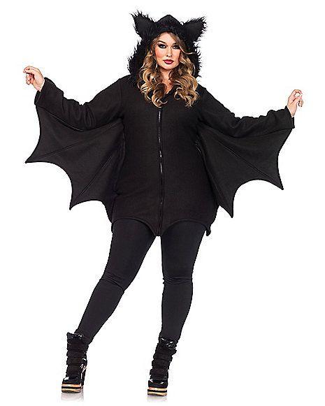 Adult Cozy Bat Plus Size Costume - Spirithalloween Halloween - halloween costume ideas plus size