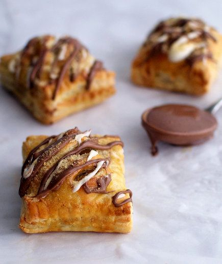 Puff Pastry S'mores Poptarts