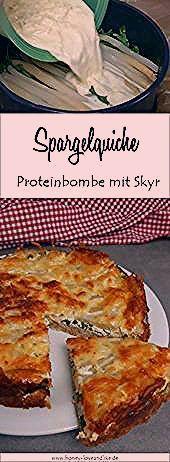 Proteinbombe! Fitness Spargelquiche mit Haferflockenboden und Skyr - Honey-loveandlike.de | Lifestyl...