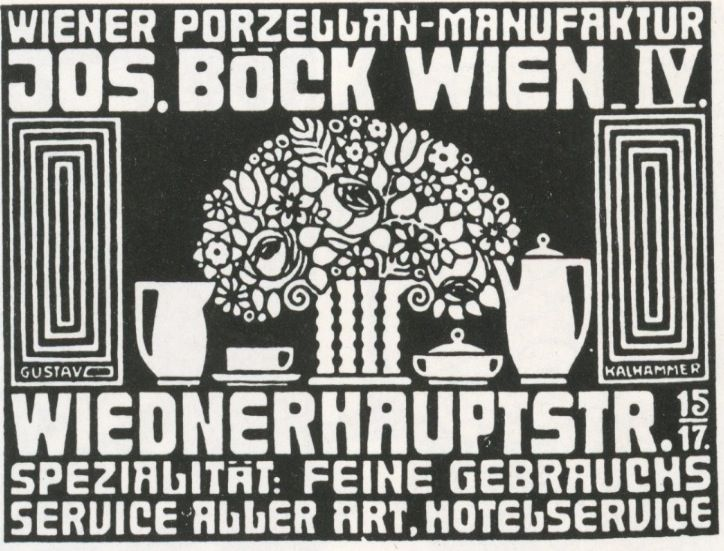 Kalhammer. Bock porcelain advertisement.