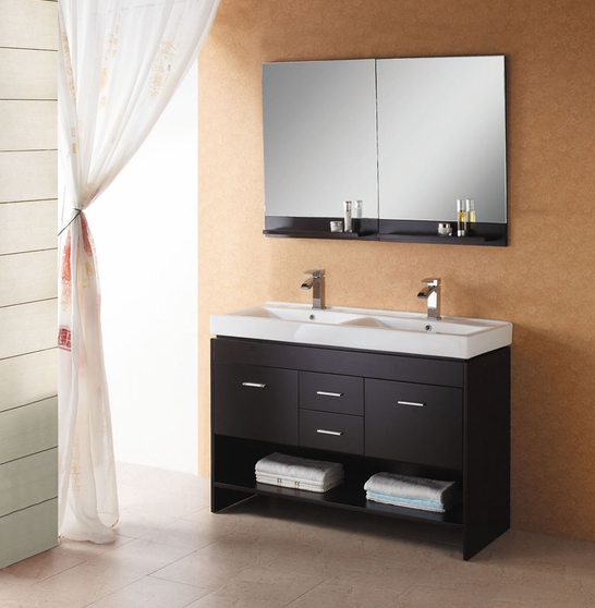 5 Space Saving Vanities For Your Small Bath Remodel Modern Double Sink Bathroom Vanity Calfinder 5