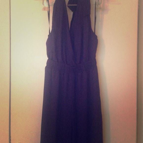 Halter/jumper one piece Navy/midnight blue. Slit in front BCBGeneration Dresses Maxi