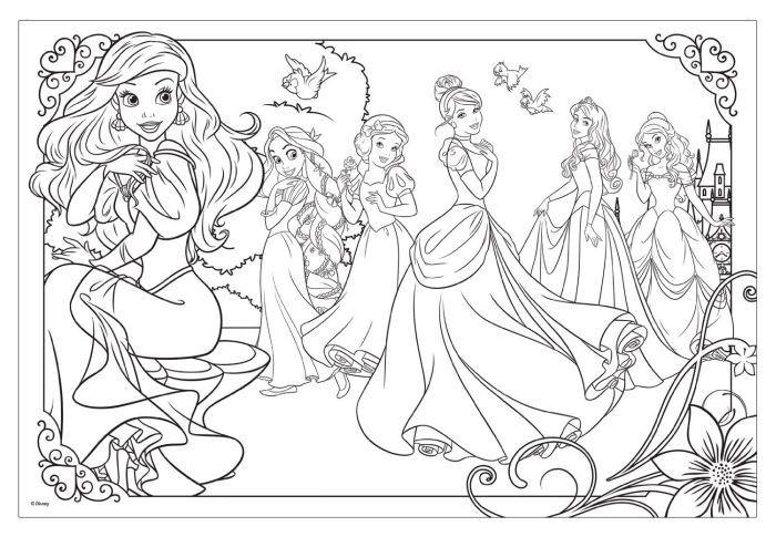 kleurplaten disney prinsesen