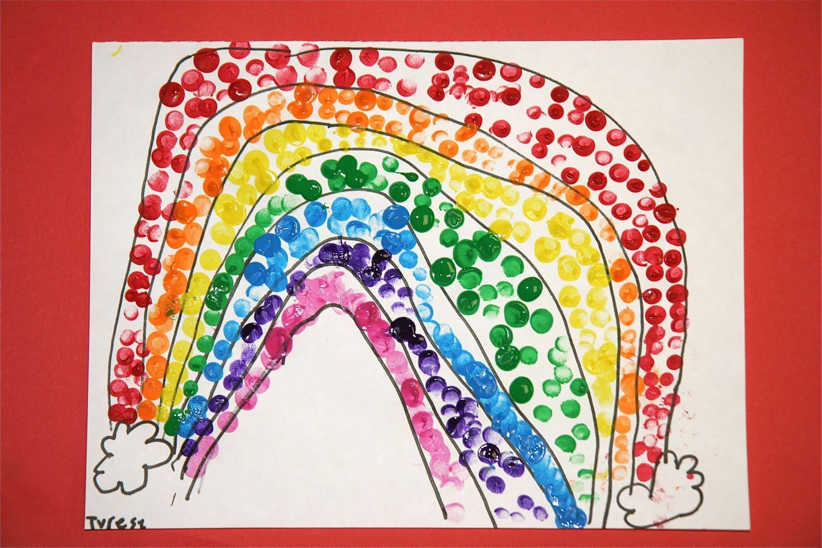 Splish Splash Splatter Rainbow Finger Painting
