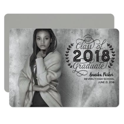 Full Photo Fancy Graduation Card  Graduation Cards And Invitation