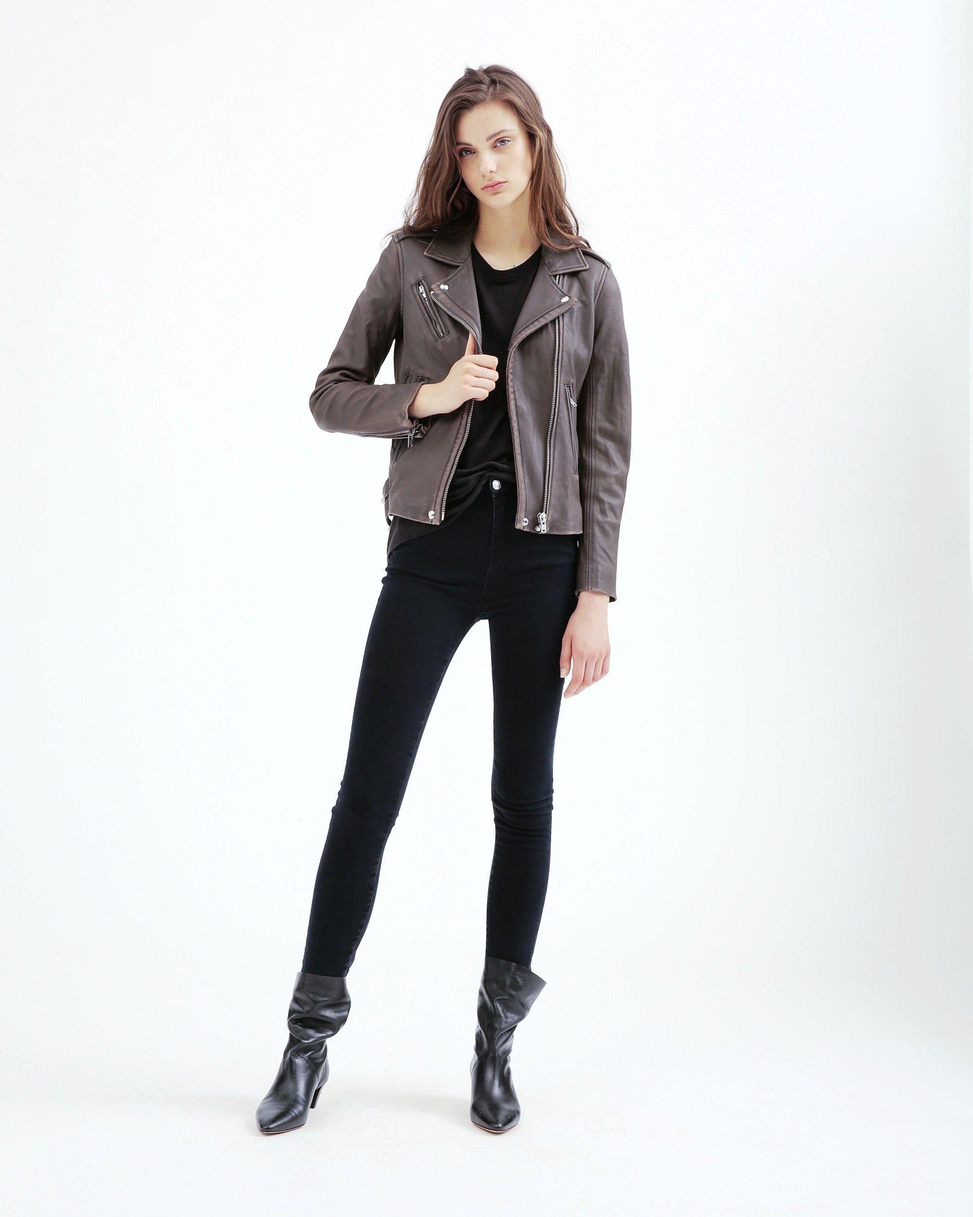 Iro Han Leather Jacket Smoke Grey Iro Cloth Leather Jacket Jackets Fashion [ 2501 x 2000 Pixel ]