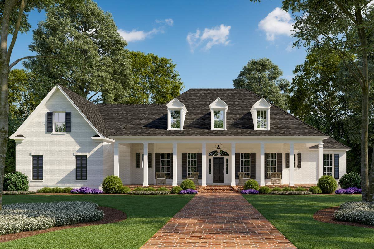 Plan 56463sm Exclusive Southern Home Plan With Outdoor Kitchen And Optional Bonus Room In 2020 Southern House Plans Madden Home Design Southern Living House Plans