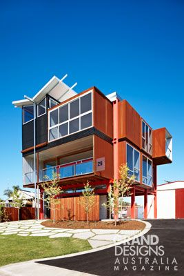 Awesome house designs by grand australia also far from your average suburban brick home the steel dominated rh pinterest