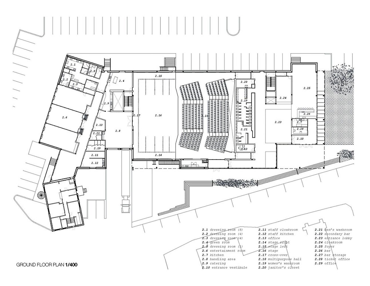Gallery of mont laurier multifunctional theater les for Floor plans architecture