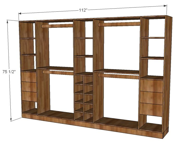 Tower Based Master Closet System Diy Closet Storage Diy Closet System Diy Closet