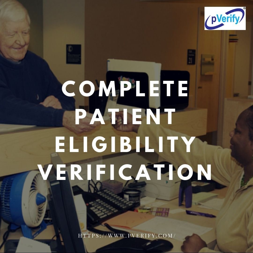 Pverify Offers Medicare Online Eligibility Verification That