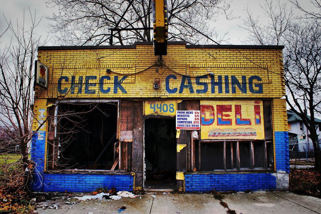 Abandoned Check Cashing Store Detroit Mi Abandoned Detroit Abandoned Places Abandoned