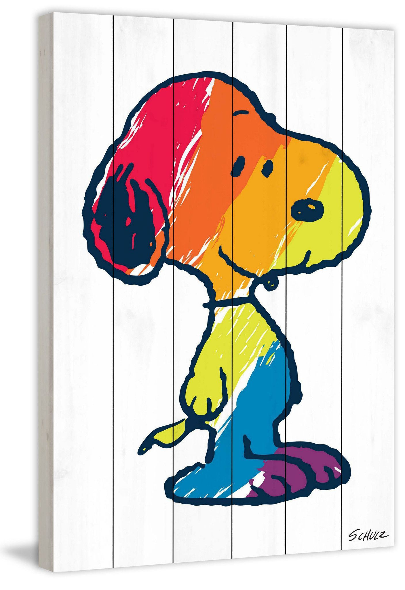 Description Peanuts icon, Snoopy, in all the colors of