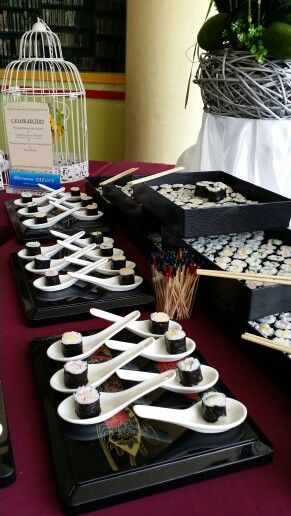 Another Idea For A Sushi Station Sushi Party Sushi Catering