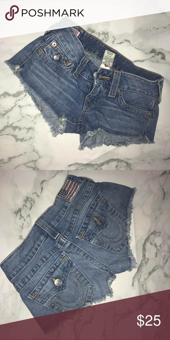 true religion booty shorts
