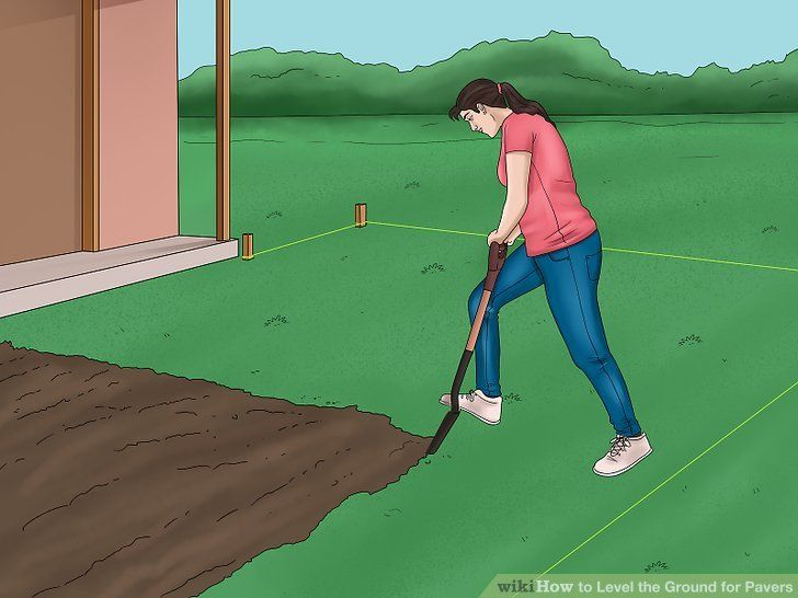 How to level the ground for pavers 15 steps with