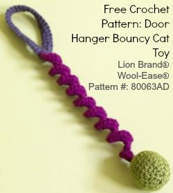Free Crochet Pattern Door Hanger Bouncy Cat Toy
