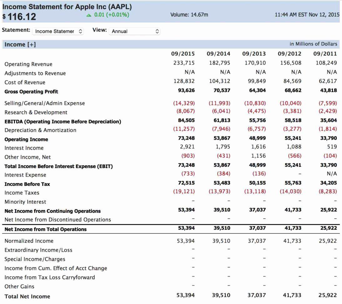 Business Income Statement Template In 2020 Income Statement