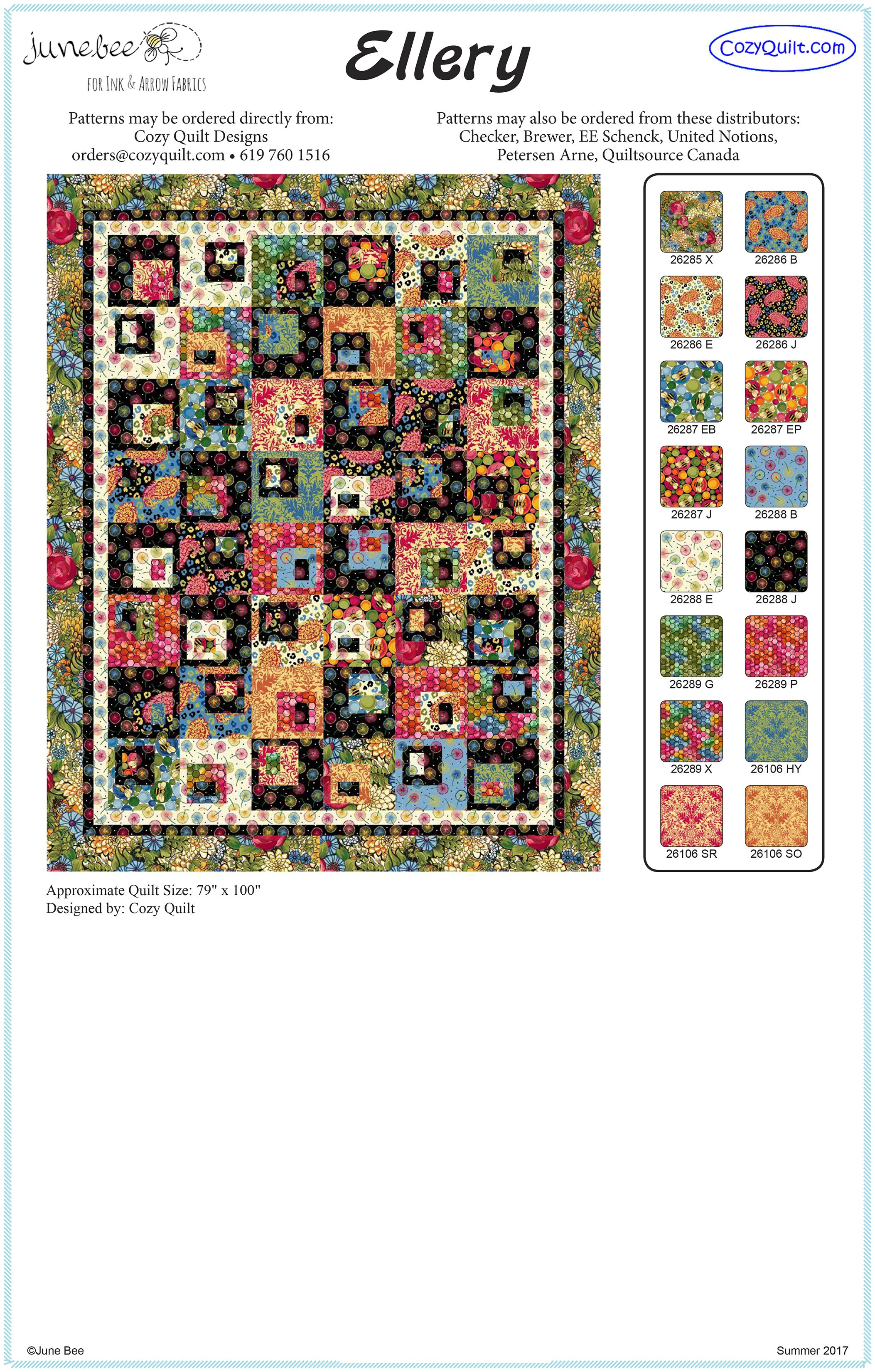 Order directions and project sheet for this fun and on trend quilt ... : the cozy quilt - Adamdwight.com