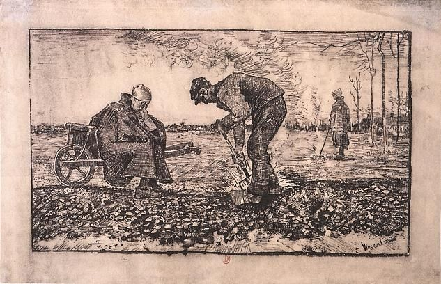 Vincent van Gogh: The Lithographs (Weed Burner, Sitting on a Wheelbarrow with his Wife)